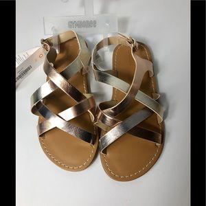 Gymboree Strappy Sandals Metalic Size 13